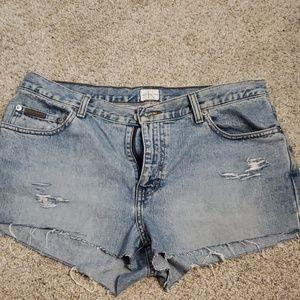 Calvin Klein Cutoff Denim Shorts